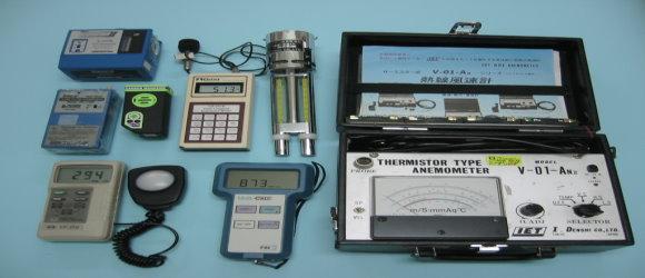 作業環境測定:噪音、高溫、有機溶劑、粉塵、特化物質、二氧化碳、照度等環境檢測